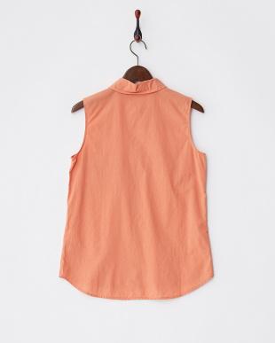 レンガ オレンジ コットンノースリーブシャツを見る
