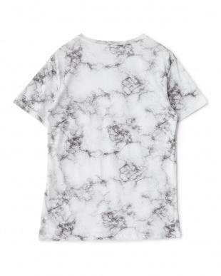 ホワイト アブストラクト柄Tシャツを見る