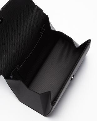 ブラック 撥水加工 横畝かぶせ切り替え ハンドバッグ見る