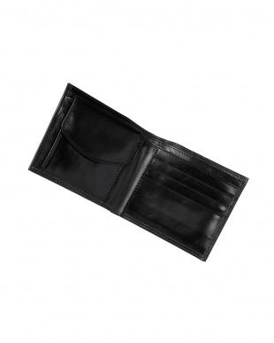 ブラック イタリアンカーフ 二つ折り財布見る