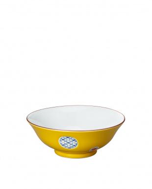 黄彩丸紋 和風麺鉢を見る