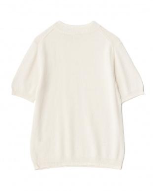 IVORY/OFF WHITE 綿麻引き揃え半袖ニット WHを見る