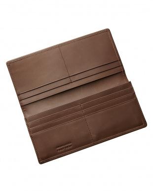 ダークブラウン 国産カーフスキン長財布を見る