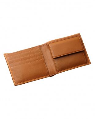ブラウン カードポケット×7 二つ折り財布を見る