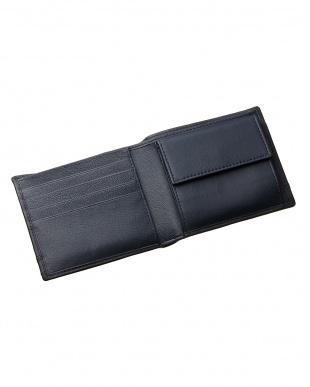 ネイビー カードポケット×7 二つ折り財布を見る