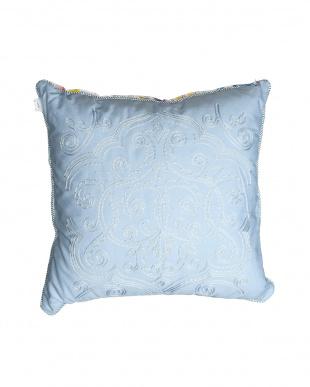 ブルー Watercolor 刺繍クッション 45×45cmを見る