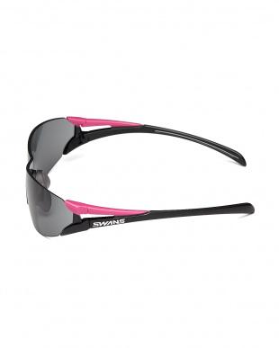 ピンク×ブラック/スモーク ピンク×ブラック ツインレンズサングラス|WOMENを見る