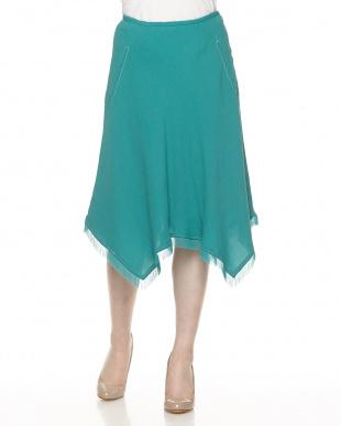 グリーン フリンジスカートを見る