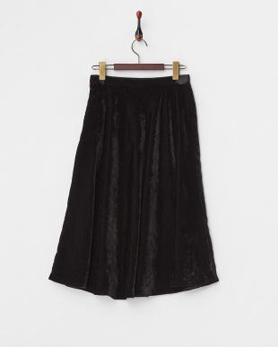 13 ブラック ベルベットフレアラインスカート見る