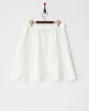 ホワイト オーガンジーレイヤード風スカート・LL~見る