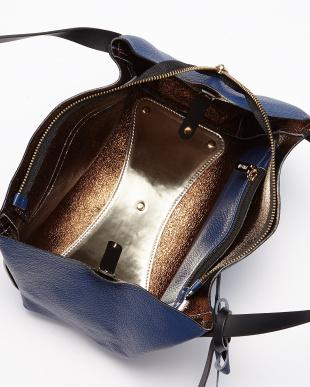 NERO ブラック MAYA OS リボンチャーム付きレザートートバッグ(small)見る