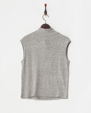 グレー くずまゆ衿付きフレンチTシャツを見る
