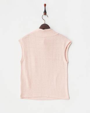 ピンク くずまゆ衿付きフレンチTシャツを見る