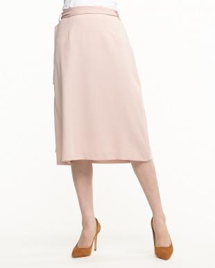 PNK ピンク ジョーゼット ラップ風スカートを見る