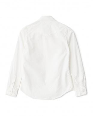 アイボリー シャンブレー ウェスタンワークシャツ見る