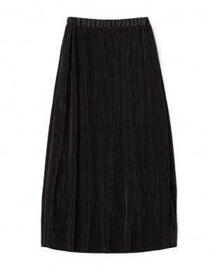 ブラック 細プリーツスカート見る