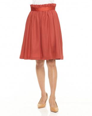 ピンク ウールジョーゼットフレアスカートを見る