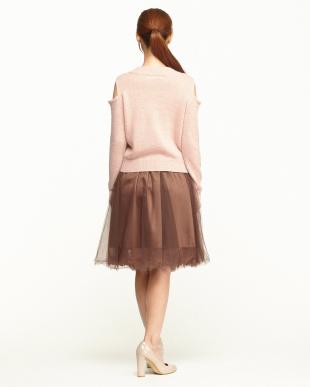 ピンク オープンショルダーPO+スカートセットを見る