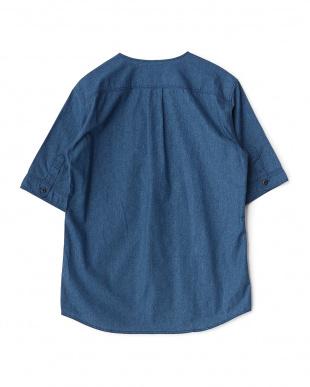 ブルー ベースボールシャツ見る