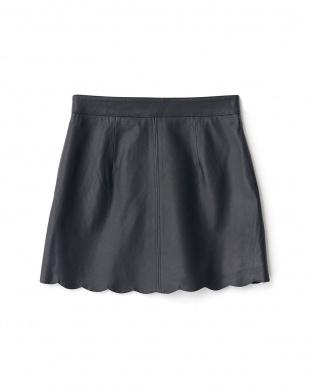 チャコールグレー PABLO レザースカラップスカートを見る
