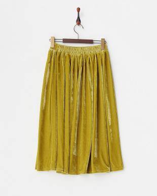 PISTACHIO ベロアギャザースカート見る
