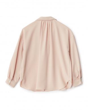 ピンク 胸ポケットスキッパーシャツを見る