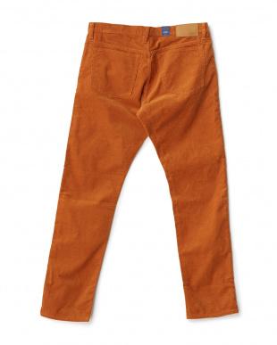 orange コーデュロイストレッチ5ポケットパンツ見る