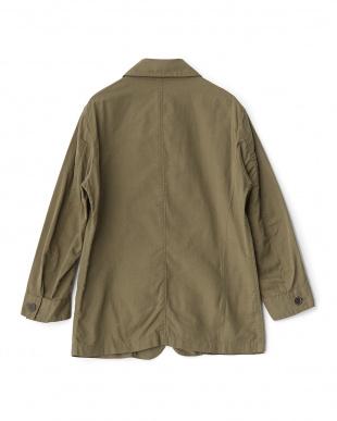 オリーブ リネン混7スリーブ型ジャケットを見る