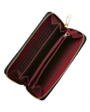 ブラック クロコダイル ラウンドファスナー長財布を見る