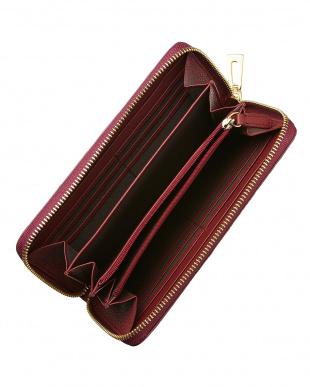 ワイン クロコダイル ラウンドファスナー長財布を見る