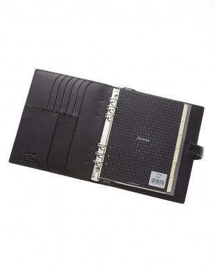 ブラック ブラック ナッパ システム手帳 A5サイズ見る