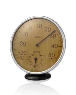 ナチュラルウッド アナログ温湿度計を見る