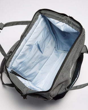 ブルー×レッド がま口Harris Tweed backpackを見る