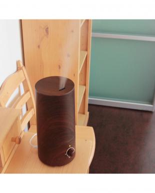 ブラウン アロマ超音波式加湿器-wood-見る