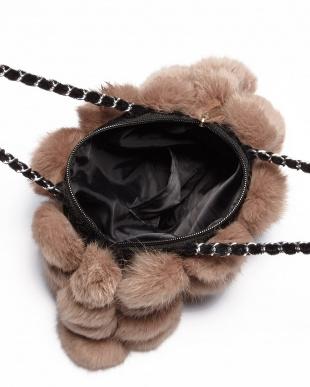ブラック ラビットファーバッグを見る