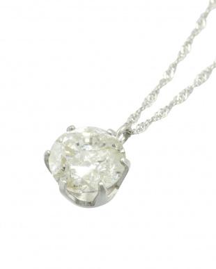 Pt 天然ダイヤモンド 1ctアップ 6本爪 プラチナネックレス見る