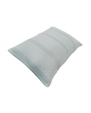 ブルー PCM+キシリトール加工 夏ひんやり涼しい蓄冷・冷感安眠枕 43×63cm 低めを見る