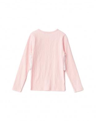 ピンク Tシャツ+レースキャミセット風トップスを見る