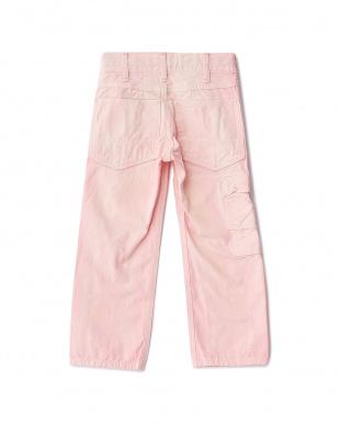 6P ピンク ネップオックスダブルニーパンツを見る
