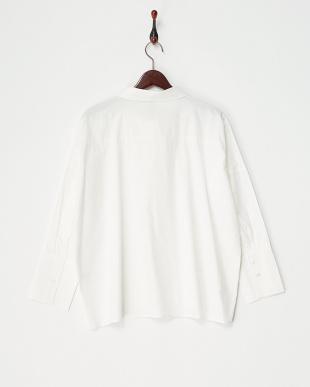オフホワイト 綿タイプライタービックカフスシャツ見る