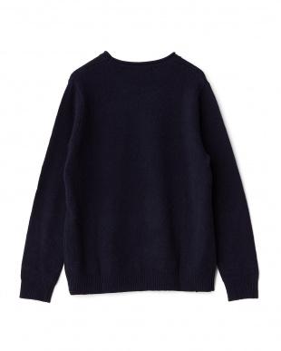NAVY ラムロールネックセーター見る