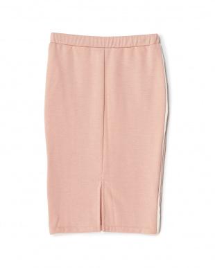 ピンク サイドライン裏毛スカート見る