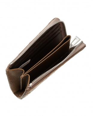 ミンクグレー クロコダイル L字ファスナーコンパクト財布見る