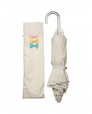 ホワイト 折りたたみ傘・カラフルリボン/pink trickを見る