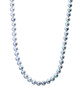 グレー/ピアス グレー あこや本真珠 希少大珠 8.5~9mm 3点セット(ピアス+連ネックレス+一粒ネックレス)見る
