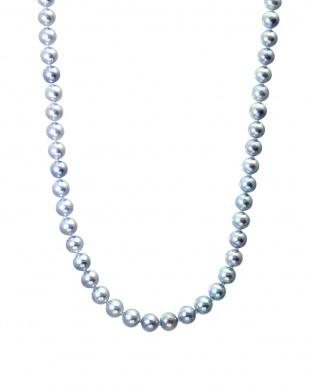 グレー/イヤリング グレー あこや本真珠 希少大珠 8.5~9mm 3点セット(イヤリング+連ネックレス+一粒ネックレス)を見る