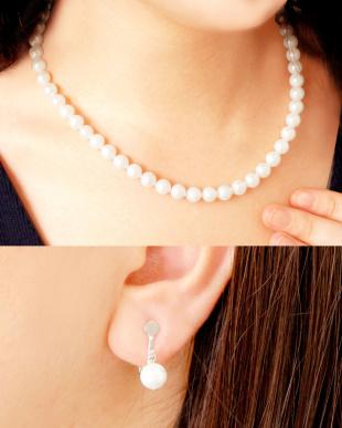 あこや本真珠 7~7.5mm 連ネックレス&イヤリング 2点セット見る