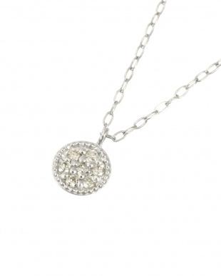 Pt 天然ダイヤモンド 7石 プラチナ ネックレス・ラウンドを見る