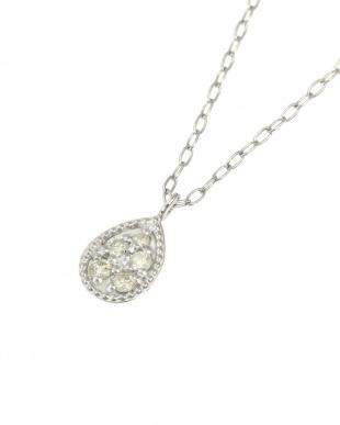 Pt 天然ダイヤモンド 5石 プラチナ ネックレス・雫を見る