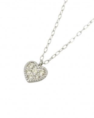 Pt 天然ダイヤモンド 6石 プラチナ ネックレス・ハートを見る